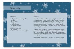 adventi naptár, nyomtatható receptkártya, recept, szakácskönyvv